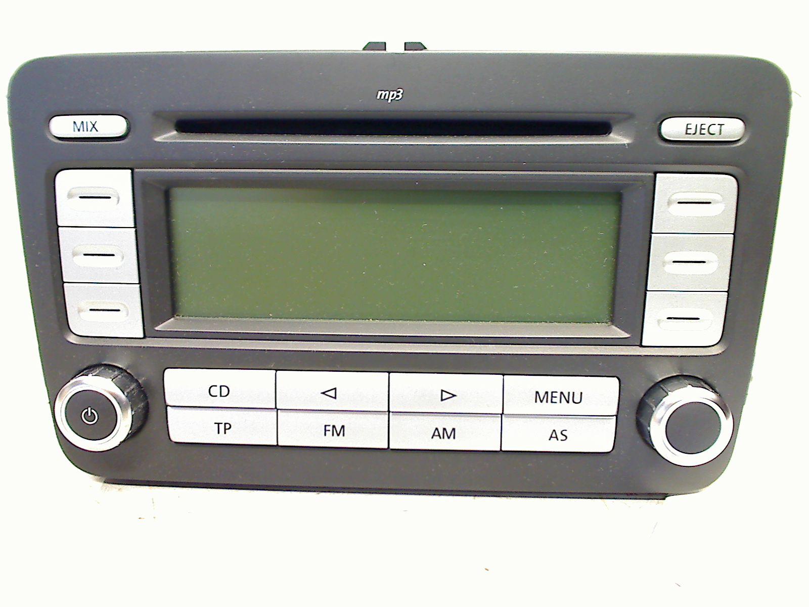 golf 5 radio rcd 300 mit bedienungsanleitung 1k0035186ad vw golf 1 k bj 2007 ebay. Black Bedroom Furniture Sets. Home Design Ideas